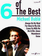 6 Of The Best Michael Buble Play HOME Moondance POP Hits Piano Guitar Music Book