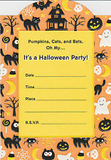 CUTE HALLOWEEN PARTY INVITATIONS Pumpkins Invites Hallmark Adults Kids Fun NEW