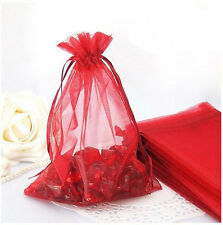 100Pcs Jewelry Candy Organza Pouch Bags Wedding Party Packaging Favor Gift Bags