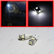 2x White 168 2825 Parking City T10 Wedge 5-SMD LED Light Bulbs W5W 194