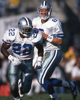 Dallas Cowboys TROY AIKMAN & EMMITT SMITH Glossy 8x10 Photo NFL Football Print
