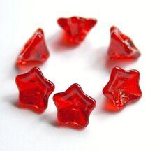 Cristal Checo Flor prensada Perlas de 12 X 8 Mm - 20 piezas