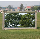 Wooden Europe Palace style Embossed Wall Mirror with silver frame 136CM X 75CM