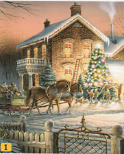 Trimming the Christmas Tree Terry Redlin 100 pc Bagged Boxless Jigsaw Puzzle