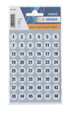 Herma Zahlenetiketten 1 - 240, 12 mm, Zahlen, Ziffern Etiketten Nummernaufkleber
