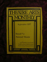 THEATRE ARTS September 1937 France Francaise Edith Hamilton Louis Jouvet