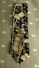 Mens Golfing Golf SILK Tie Necktie PRESTIGE