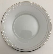 Compton Fine China 1 Saucer Only 3 Platinum Rings On White w/ Smooth Edge