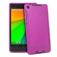 Premium HotPink TPU Flexible Case Cover Skin for New Google Nexus 7 II 2nd.2013
