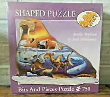 Bits & Pieces 750 Pc Shaped Jigsaw Puzzle ARCTIC WALRUS Jack Williams New Sealed