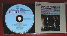 MARTHA ARGERICH NELSON FREIRE ON 2 PIANOS RACHMANINOV LUTOSLAWSKI CD BLUE FACE