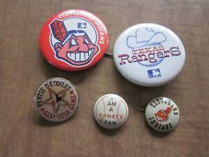 1940's -1990's Baseball Pin Back Lot (5)