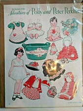 Paper Dolls Adventures of Polly & Peter Perkins Gertrude A. Kay Baby'S Bath 1934