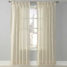Splendor 108-Inch Grommet Glide Pinch Pleat Sheer Window Curtain Panel in Linen