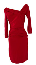 NEW MANGO RED BARDOT JERSEY DRESS  Size XS