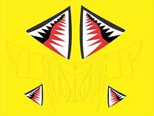 SKI DOO BRP OLDER REV MX Z SUMMIT MACH 600 ZRT  SX ZX shark mouth DECAL STICKER