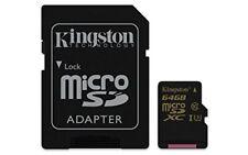 Mem microSD Gold 64GB Kingston Uhs-i Cl3(u3) adapt