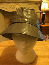 Genuine Aquascutum Mens Grey weatherproof 100% Linen bucket hat size small BNWT