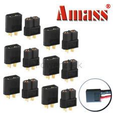 6-pair Amass Black XT60 Male & Female Connectors/Plugs/Sockets for Lipo Battery
