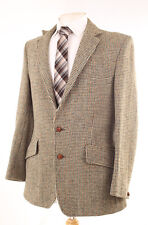 HARRIS TWEED MEN'S RARE VINTAGE HACKING COUNTRY SPORTS JACKET 40S DRY-CLEANED