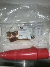 Connector,Double Set Screw,Red,Male HUBBELL WIRING DEVICE-KELLEMS HBL400MR