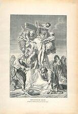 Descente de Croix Jésus musée Ingres par Jean Jouvenet GRAVURE OLD PRINT 1913