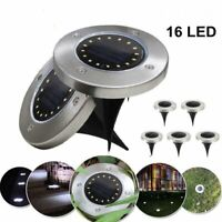 16LED Solar Disk Lights Ground Buried Garden Lawn Deck Path Outdoor Waterproof