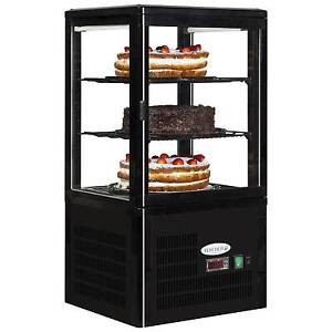 NEW COUNTERTOP REFRIGERATED GLASS CAKE PATISSERIE CAFE DISPLAY TEFCOLD UPD 60