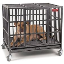 ProSelect 20-gauge Steel Empire Dog Cage with Tray in Med Hammertone, ZW179-37