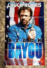 TEXAS RANGER 4 - Black Bayou * VIDEO-POSTER 52x84cm German 1- Sheet CHUCK NORRIS