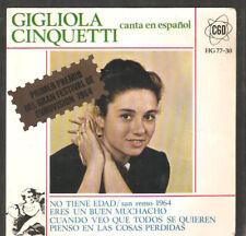 EUROVISION,Gigliola Cinquetti,SUNG IN SPANISH EP.No tiene edad.1964