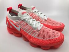 "Men's Nike Air Vapormax Flyknit 2 - ""Bright Crimson"" White (CD2379-601) Size 10"