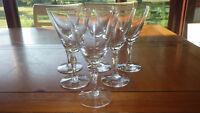 Crystal Water Goblets Glasses Elegant tapered stem 6 10oz stem Cristal D'Arques