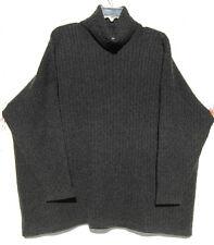 NEW Eskandar Bergdorf Goodman Handloomed Cashmere Cable Knit T/N Swtr O/S $1890