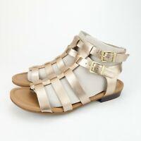 Clarks Artisan Viveca Myth Womens Gold Leather Gladiator Sandals Size 7.5 M