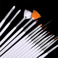 15Pcs/Set UV Gel Nail Art Painting Polish Brush Pen Manicure DIY Tools Supplies