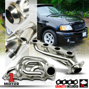 Stainless Steel Shorty Exhaust Header Manifold for 97-04 Ford F150 5.4 330 V8