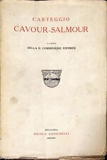 CARTEGGIO CAVOUR-SALMOUR - NICOLA ZANICHELLI, 1936