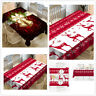 Christmas Square Tablecloth Ribbons Printed Fabric Table Cover Art Large Doilies