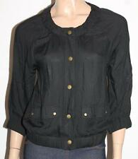 Katies Designer Black Button Front 3/4 Sleeve Jacket Size XS BNWT #jA141