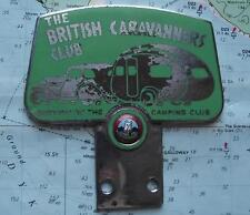 Vintage GAUNT Mascot Badge with Art Deco Caravan Car  BRITISH CARAVANNERS CLUB D