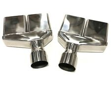 """For 1970-74 Dodge Challenger Stainless Steel Exhaust Tips 2.5"""" Inlet Square Cut"""