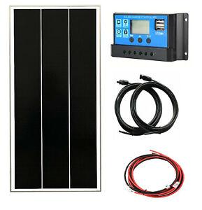 150w Monocrystline solar panel kit 20A  controller Motorhome caravan boat 12v