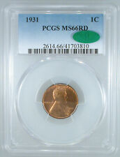 1931 Lincoln Cent MS-66 RD PCGS/CAC Certified