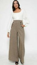"""Lindy Bop 'Adonia' Vintage 1930s Brown Tweed Wide Leg Trousers BNWT Sz 16 30""""L"""