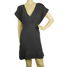 DVF Diane Von Furstenberg New Tasha Gray Belted Tunic Dress Cover Up Sz S