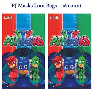 PJ Masks Loot Bags Boys Birthday Party Favor Supplies (16) Pajama Heroes Treat