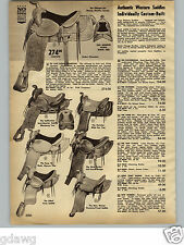 1963 PAPER AD Western Cowboy Leather Saddles Rodeo Champion The New Yorker