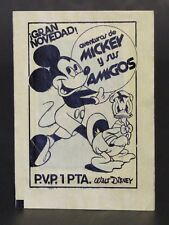 1976 MICKEY AND HIS FRIENDS SPANISH TRADING CARDS VINTAGE ENVELOPE unopened VHTF