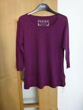 M & S Indigo Cotton & Lyocell Magenta T-Shirt BNWT Size 12